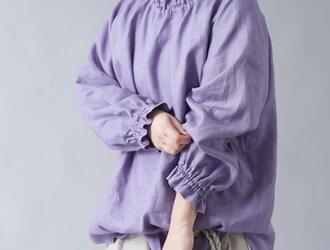 【wafu 入門編】中厚リネンハイネック シャーリング ブラウス /ヴィオラッセグリーゼ t052b-vsg2の画像
