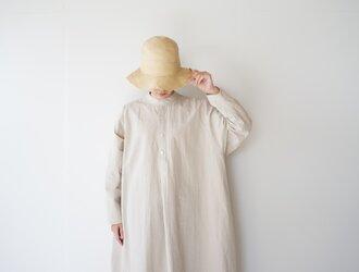 paper cotton one piece/beigeの画像