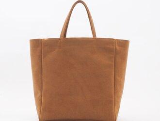 light swede handbag L(マスタード)/人工皮革(アルカンタラ)/HB018の画像