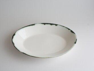 オーバル リム皿 21㎝の画像