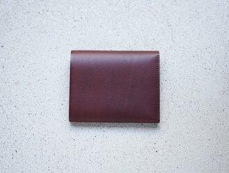 TSUKIKUSA コンパクト二つ折り財布(小銭入れ付き)/ブラウンの画像