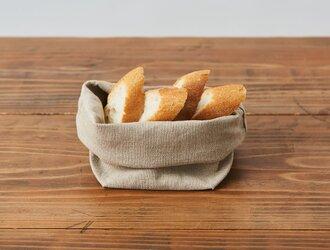 【8月中旬お届け】ブレッドバスケット(リネン帆布のパン袋)Sサイズの画像