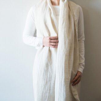 Organic Cotton&linen Wガーゼストール【50㎝幅】