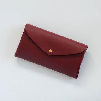 basic long wallet #wine red / ベーシックロングウォレット 長財布 #ワインレッド