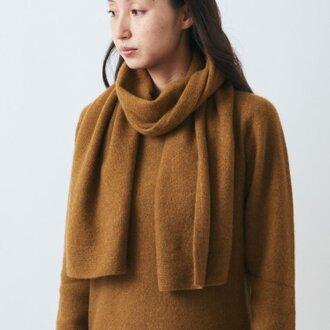 【送料無料】enrica cashmere&wool muffler / mastard