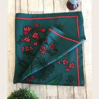 Flower scarf ~green~