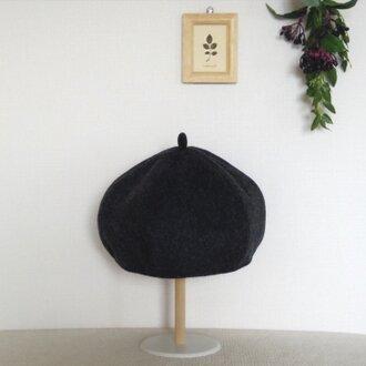 ウールのあったかベレー帽( grey)