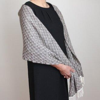 カシミヤ<沫雪>手織りストール