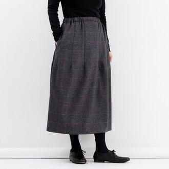 ギャザースカート(赤チェック)#224