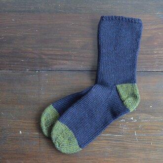 手編みソックス_men's 26cm