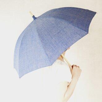 リネン日傘 藍