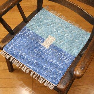 手織りラグマット⑫