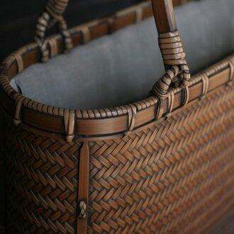 網代編みバッグ