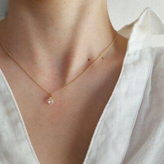 necklace|herkimer diamond|14kgf| calling