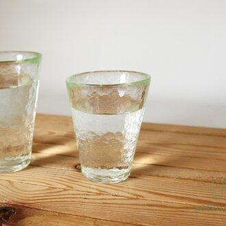 打ち出し模様のシンプルグラス ライム(小)