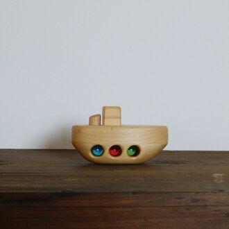 お風呂で遊べる 木のおもちゃ 小舟②