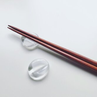 Chopstick rest for two / White Stone