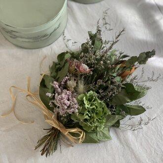紫陽花とセルリアのスワッグ