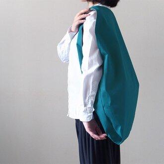 Bicolor Cloth Bag (ターコイズブルー):カレン クオイル