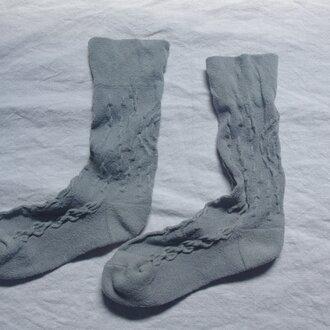 絹の靴下 snow forest green