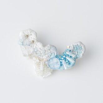 crystallize/刺繍ブローチ