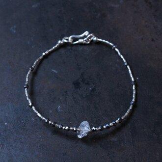 ハーキマーダイヤモンド・テラヘルツとカレンシルバーのブレスレット