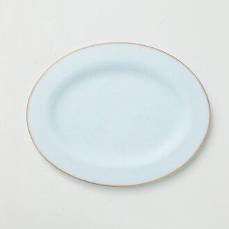 リム皿 オーバル (ライトブルー)