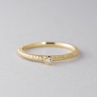 【オーダー】お花と枝のダイヤモンドリング / K18YG