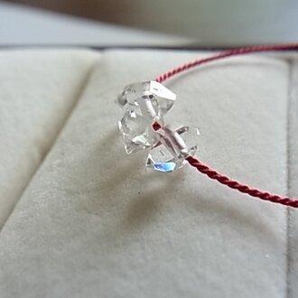 14KGF NYハーキマーダイヤモンドコードネックレス