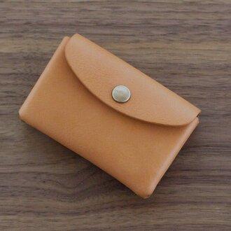 イタリア製牛革のミニ財布 / ナチュラル※受注製作