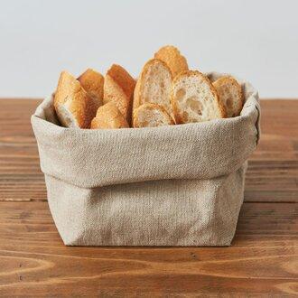 【再入荷】ブレッドバスケット(リネン帆布のパン袋)Lサイズ
