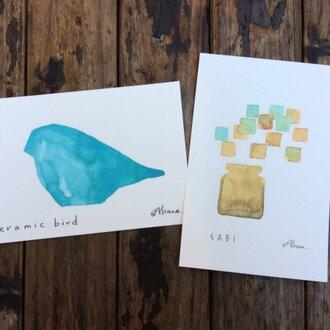 ゆる絵 ポストカード2枚組