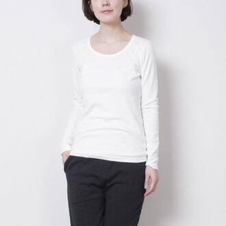 T0012A 5本針長袖tee ホワイト