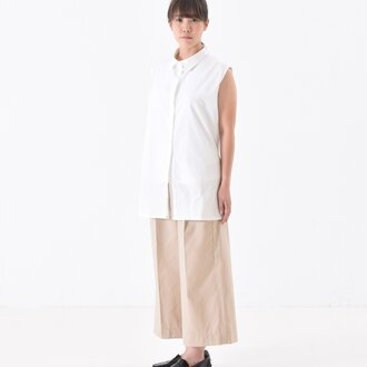 no sleeve long shirt ノースリーブロングシャツ