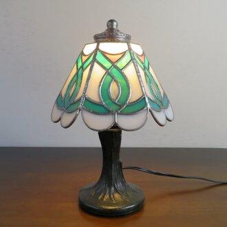 エメラルドグリーン (ステンドグラスランプ) ガラス照明・ガラス Mサイズ
