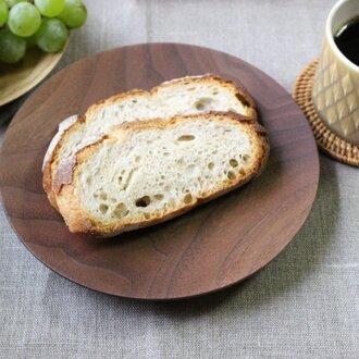 ウォールナットのお皿(φ185)パン皿