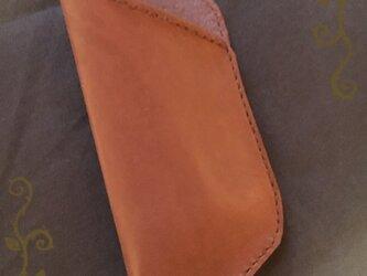 牛ヌメ革♡小さな眼鏡用ケースの画像