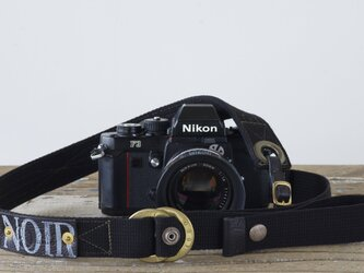 RING STRAP BLACKカメラストラップ[受注生産]の画像