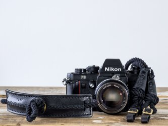 EIGHT KNOT BLACK カメラストラップ[受注生産]の画像
