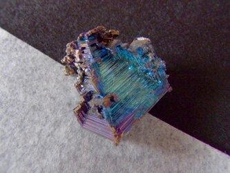きらきら輝くビスマス結晶Iの画像