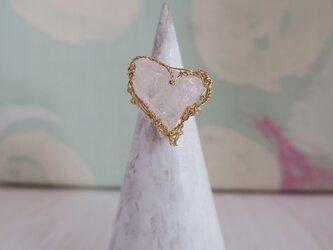 heart ring(アーカンソー水晶)の画像