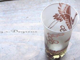 清酒杯(ビアグラス)「瑞祥・紫」の画像