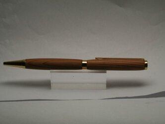 御山杉  神様の木 金のスリムボールペンの画像
