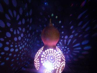 ひょうたんランプ 虹色花火の画像