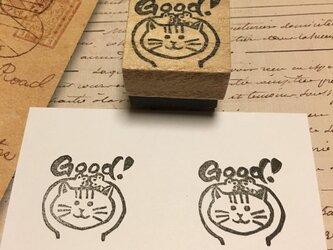 GOODはんこ【ネコ助】3㎝四方の画像