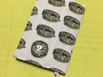 文庫本用ブックカバー Harinezumi 灰色の画像