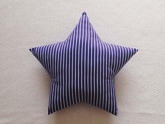 クッション star(M) ピンストライプ・ネイビーの画像