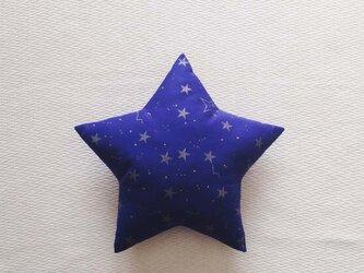 クッション star(S) 夜空の星・ネイビーの画像