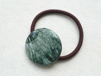 天然石の髪飾り「セラフィナイト」Ⅸの画像