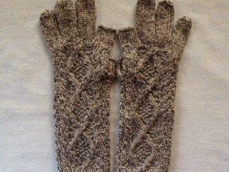 【受注後製作】手袋アルパカ×ラムウールグレー系の画像